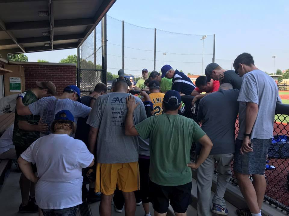 Congressional Baseball Democrats Team Prays After Shooting at Republican Team Practice