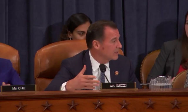 Rep Tom Suozzi at W&M Oversight Subcommittee Hearing on How the Tax Code Subsidizes Hate, 9/19/19